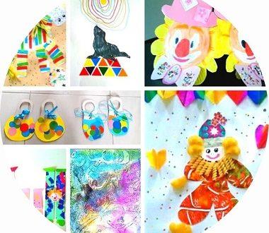 44 bricolages pour enfants sur le cirque