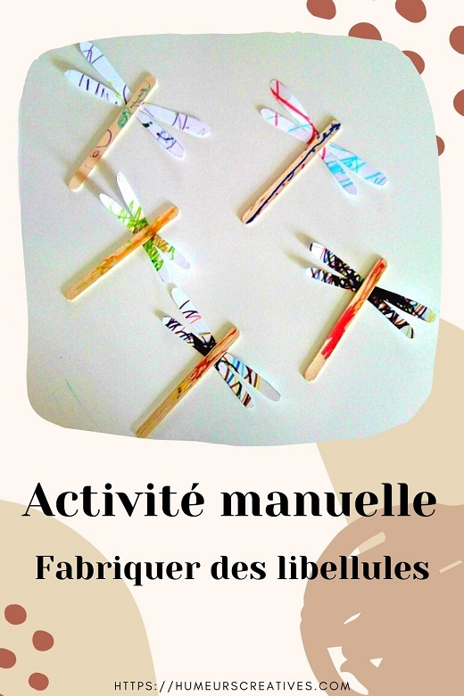 Activité manuelle pour enfants : des libellules de printemps