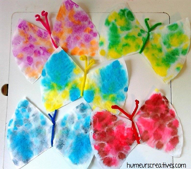 Papillons fabriqués avec des filtres à café