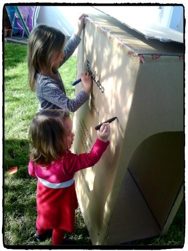 Recycler un gros carton en cabane