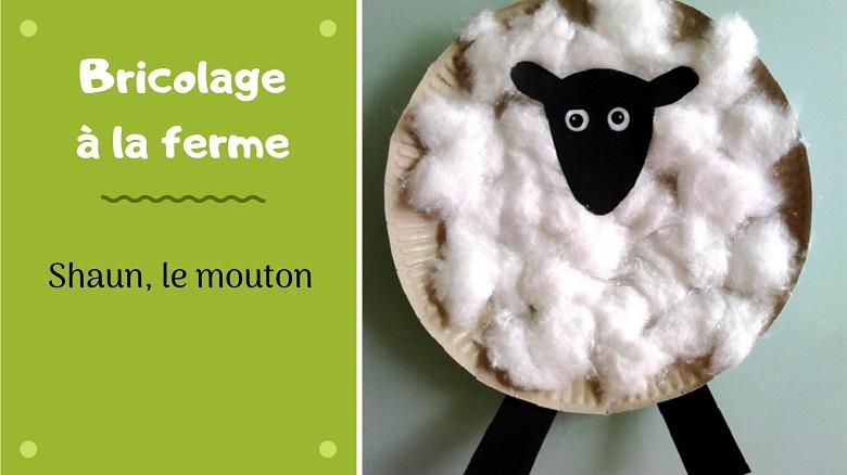 bricolage pour enfant : shaun le mouton