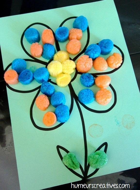 fleur décorée avec du playmaïs