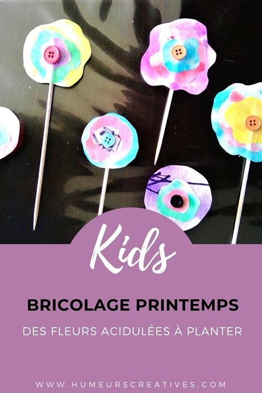 Bricolage de printemps pour enfants : des fleurs réalisées avec des filtres à café