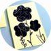 Fleurs noires réalisées avec les enfants