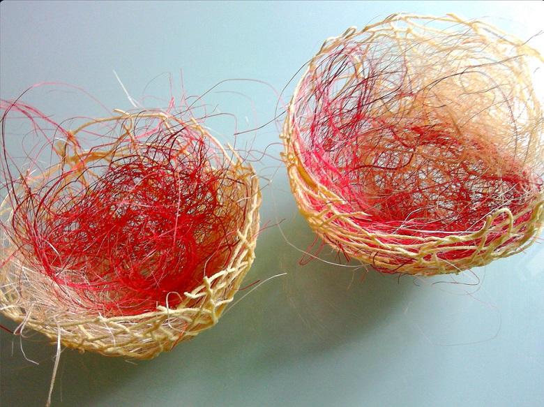 décoration de nos nids en laine