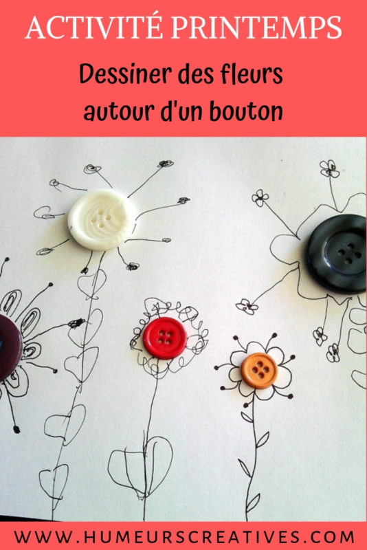 bricolage de printemps : réaliser des fleurs autour d'un bouton