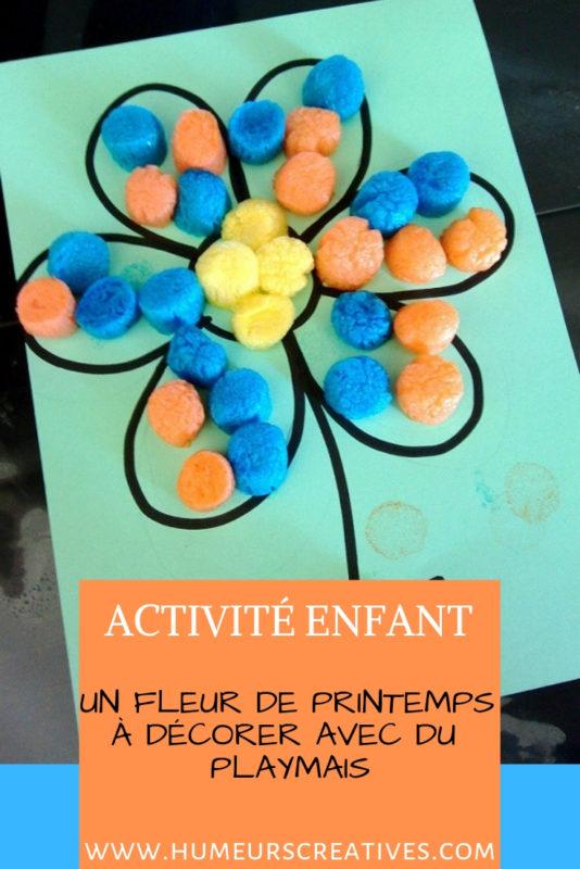 bricolage de printemps : réaliser une fleur en playmais avec les enfants