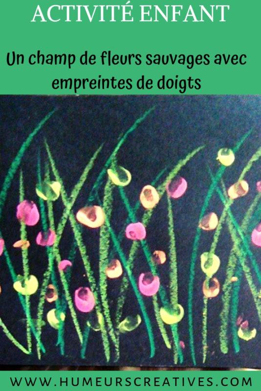 bricolage pour enfants : champs de fleurs sauvages à la peinture aux doigts