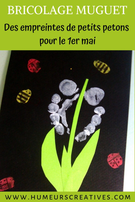 bricolage enfant pour le 1er mai : du muguet réalisé avec les pieds