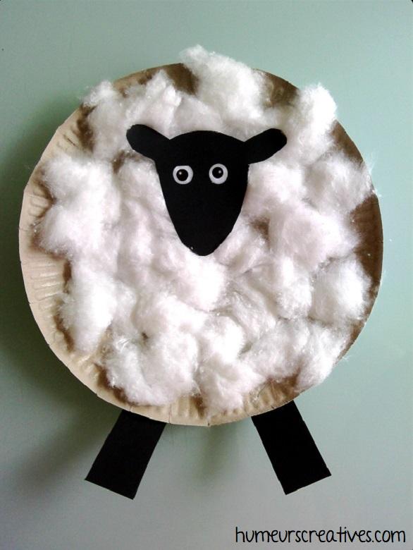 shaun le mouton en assiette en carton