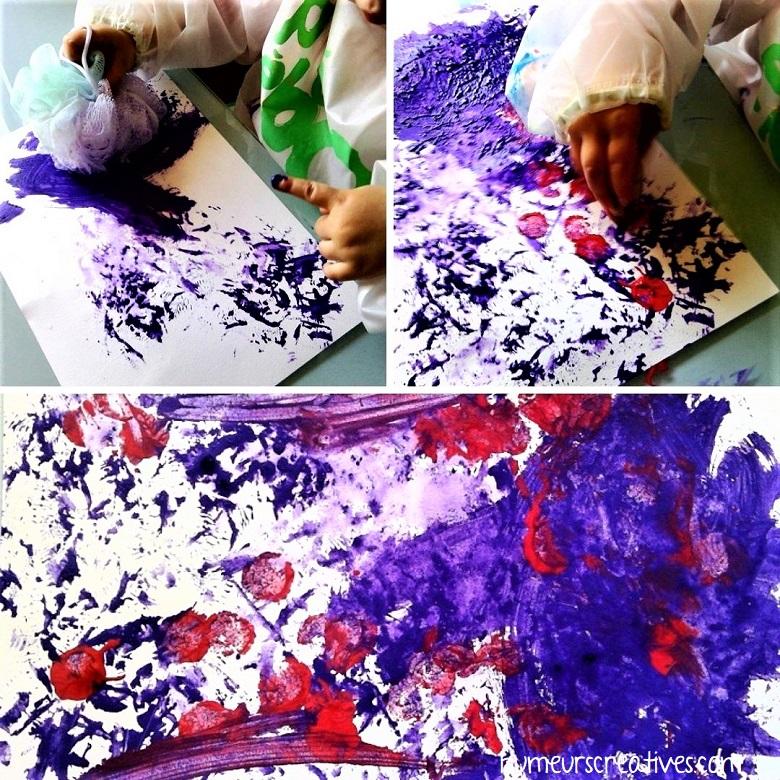 peindre sur une feuille