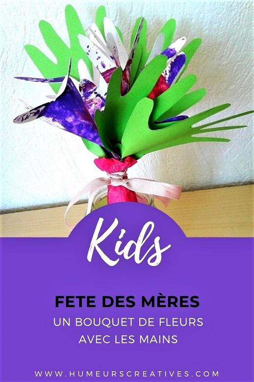 Idée cadeau pour la fête des mères: un bouquet de fleurs en papier à faire avec les mains des enfants