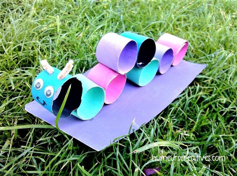 chenille en rouleau de papier toilette à réaliser avec les enfants