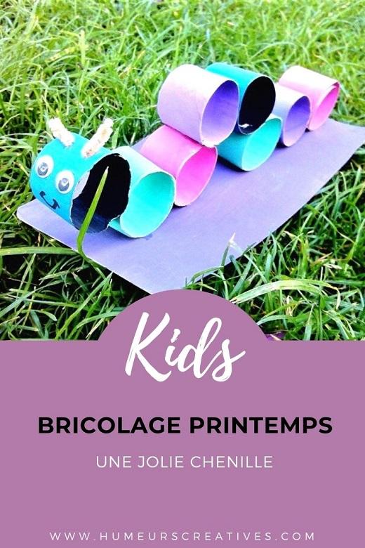 Bricolage pour enfants : réaliser une chenille avec des rouleaux en carton