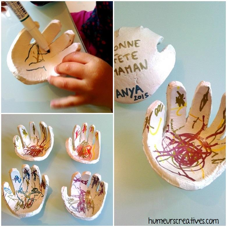 décoration de la main avec des feutres multisurfaces