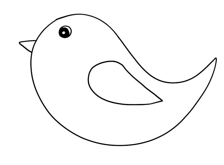 gabarit oiseau pour bricolage nid oiseau