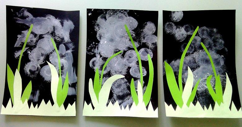 bricolage muguet en peinture