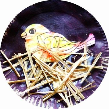 Fabriquer un nid d'oiseau avec les enfants