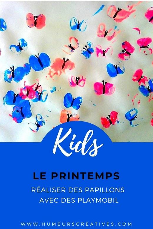 Bricolage de printemps pour les enfants : réaliser des papillons  à l'aide d'un playmobil