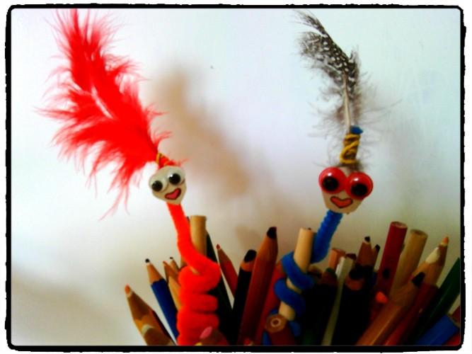 Des crayons rigolos