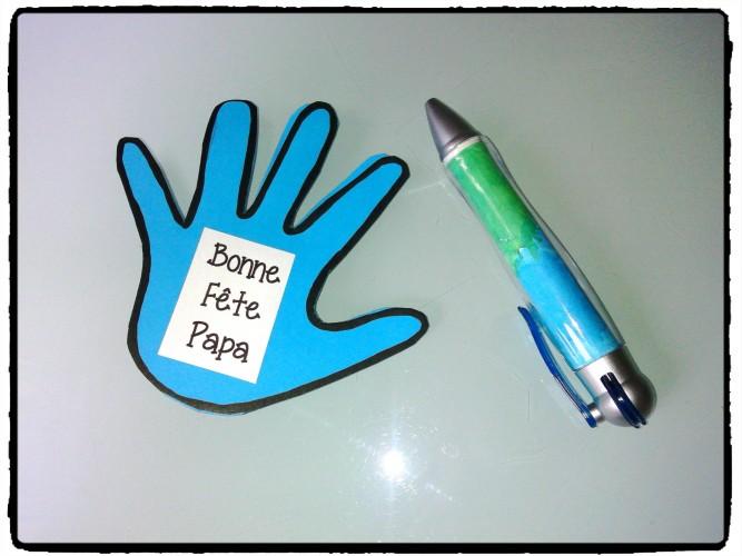Fête des pères : un stylo et une petite carte