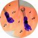 Guitare en empreinte de pied