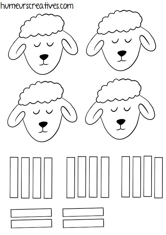 gabarit moutons