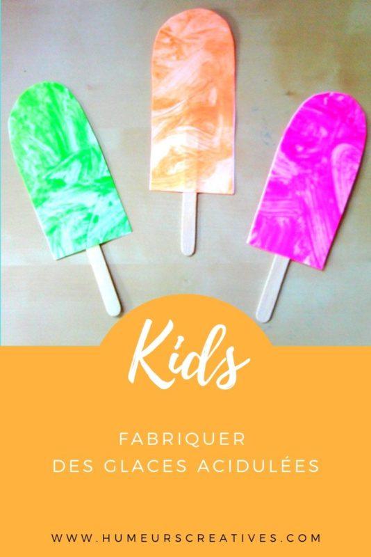 Bricolage d'été pour enfants : fabriquer des glaces acidulées
