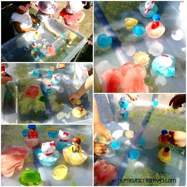 jeux d'eau pour enfants : libérer les personnages des glaçons