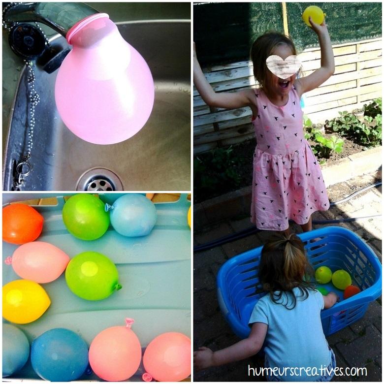 jeux d'eau pour enfants : bataille avec des ballons d'eau