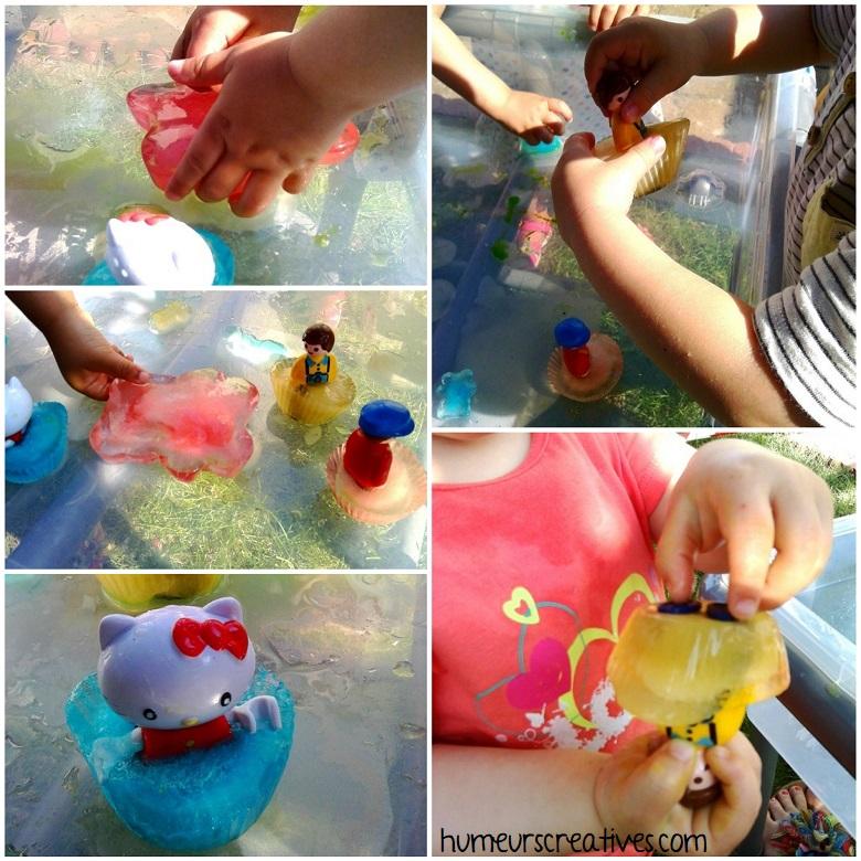 jeux d'eau pour les enfants : libérer les personnages des glaçons