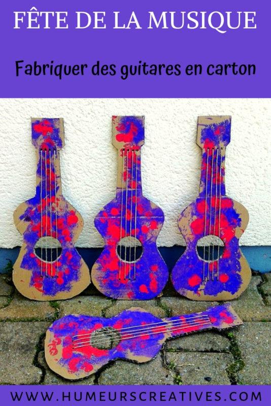 Bricolage pour enfants : une guitare en carton pour la fête de la musique