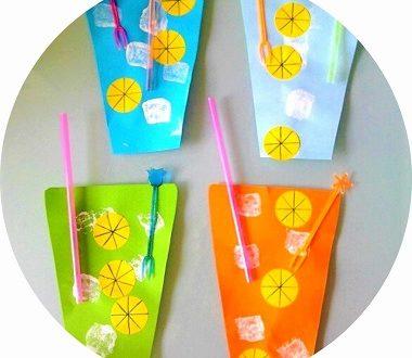 Bricolage d'été pour les enfants : cocktail en papier