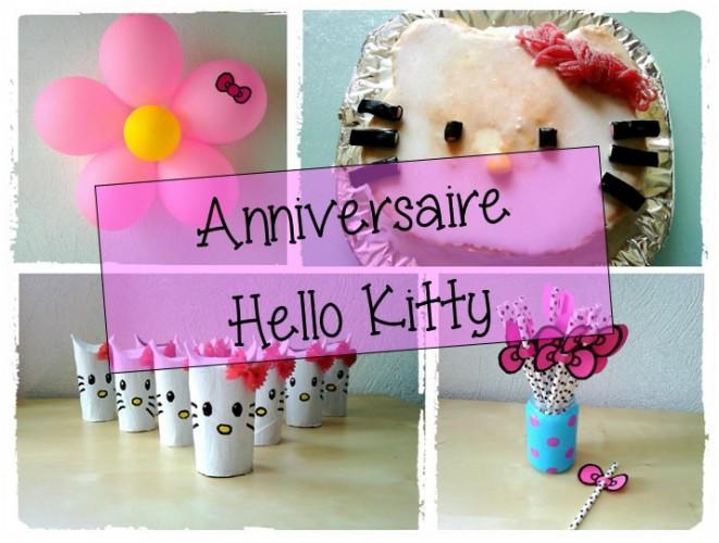 Anniversaire 2 ans Anya : thème Hello Kitty