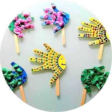 Fabriquer des poissons marionnettes avec les enfants