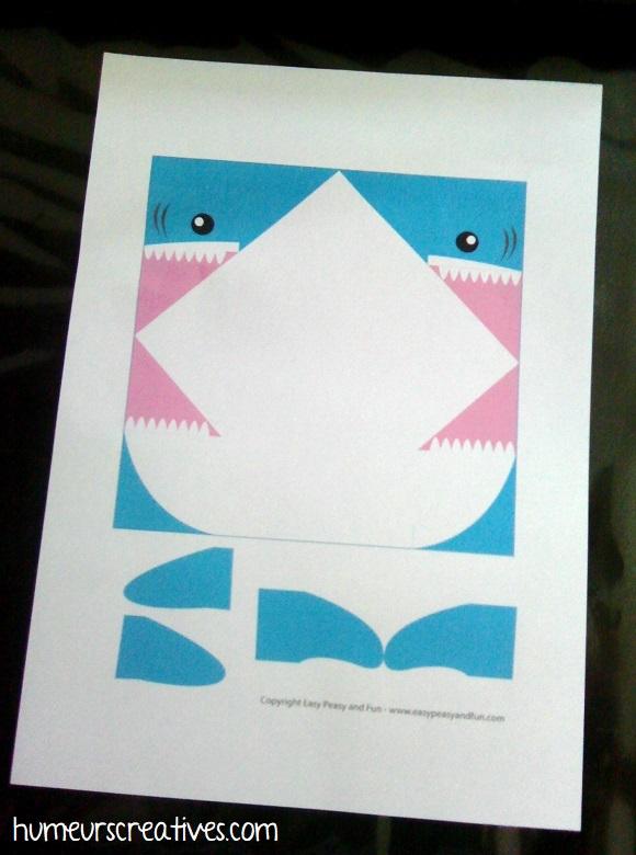 origami requin à imprimer