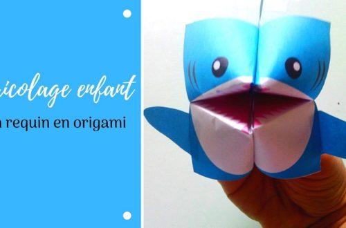 Fabriquer un requin en origami, activité manuelle pour les enfants