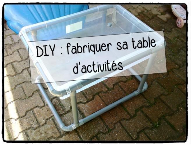 Fabriquer sa table d'activités