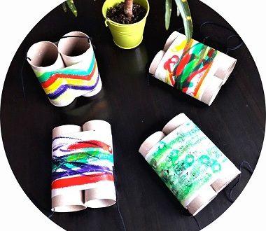 jumelles en carton à fabriquer avec les enfants
