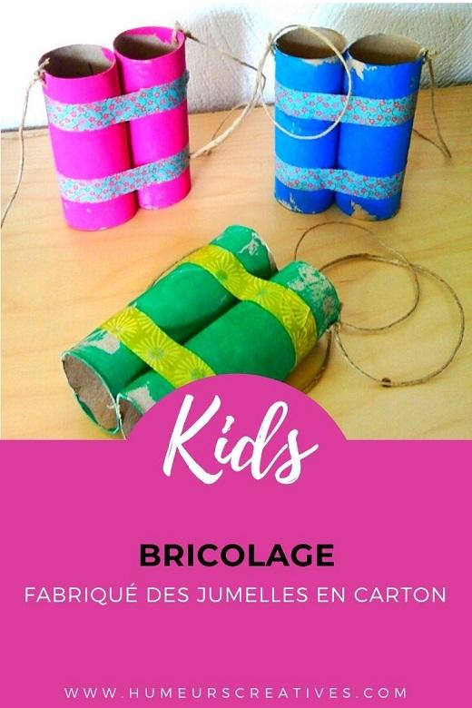 Bricolage pour enfant : fabriquer des jumelles en carton