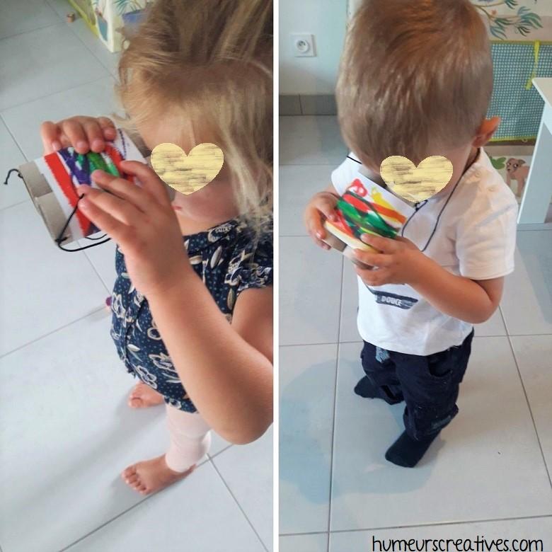les jumelles fabriqués par les enfants