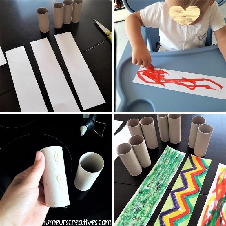décorer des jumelles en carton