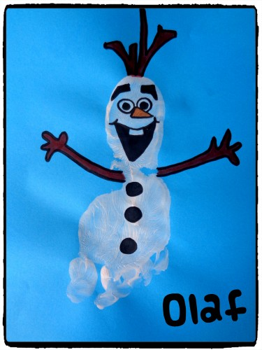 Olaf en empreinte de pied