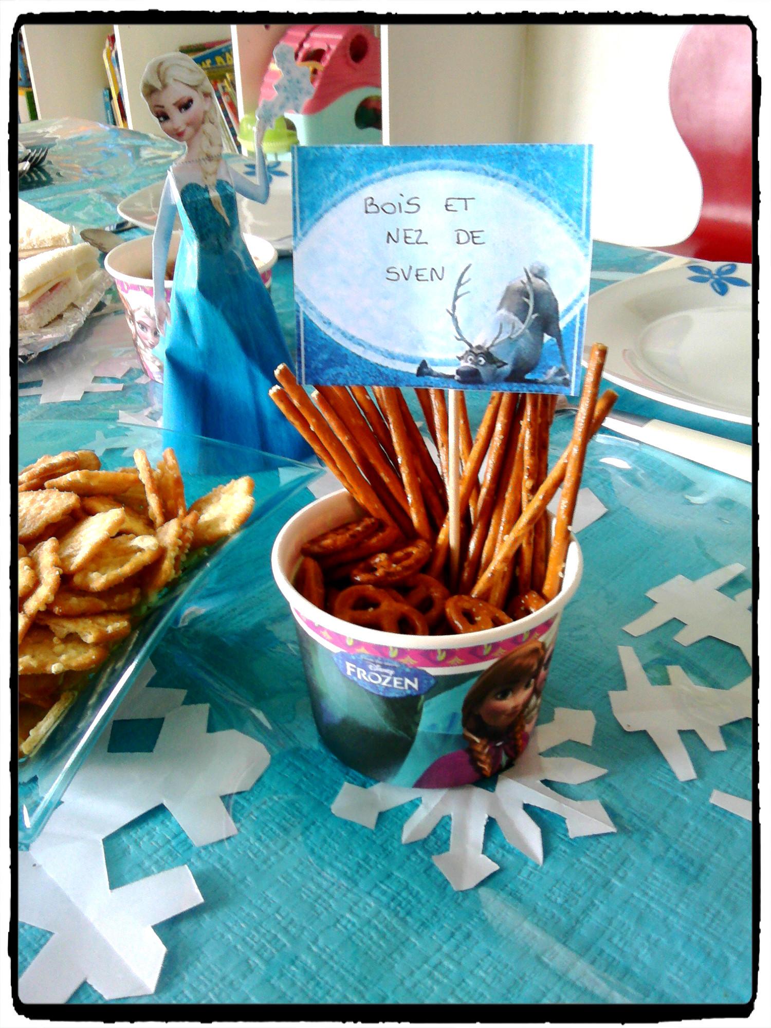 Anniversaire la reine des neiges avec la famille mes humeurs cr atives - Idee repas famille anniversaire ...