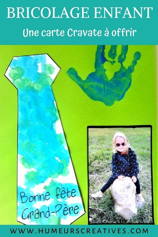 Une carte cravate à fabriquer avec les enfants pour la fete des pères ou la fete des papys