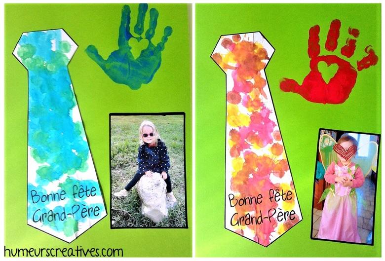 carte cravate à faire avec les enfants