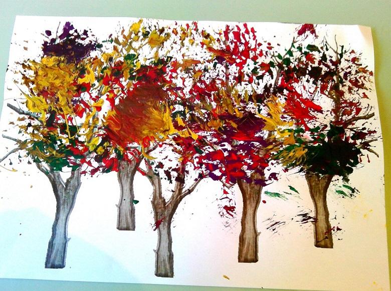 nos arbres d'automne en peinture