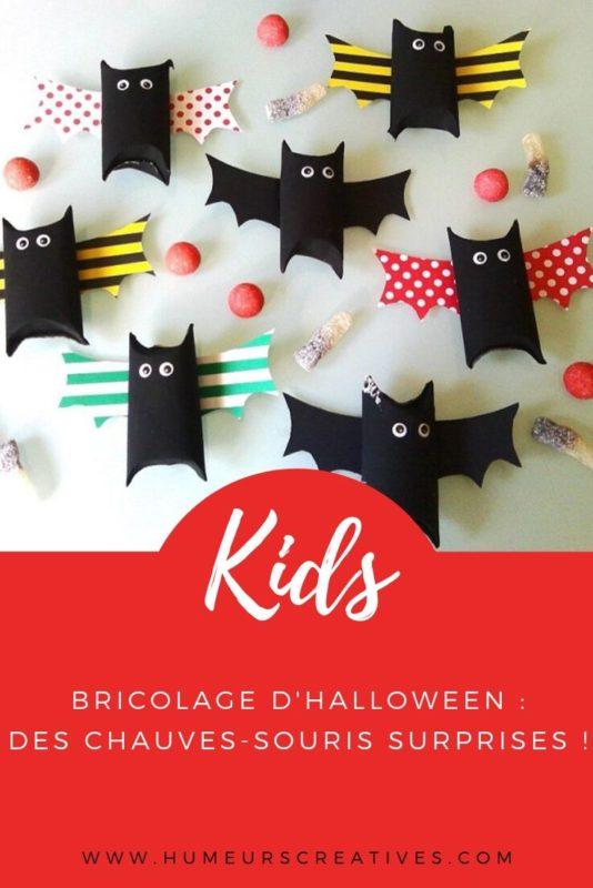 Bricolages d'Halloween pour enfants : fabriquer des chauves souris avec un rouleau de papier toilette