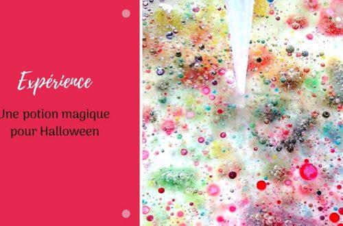 Expérience pour enfant pour Halloween : une potion de sorcière