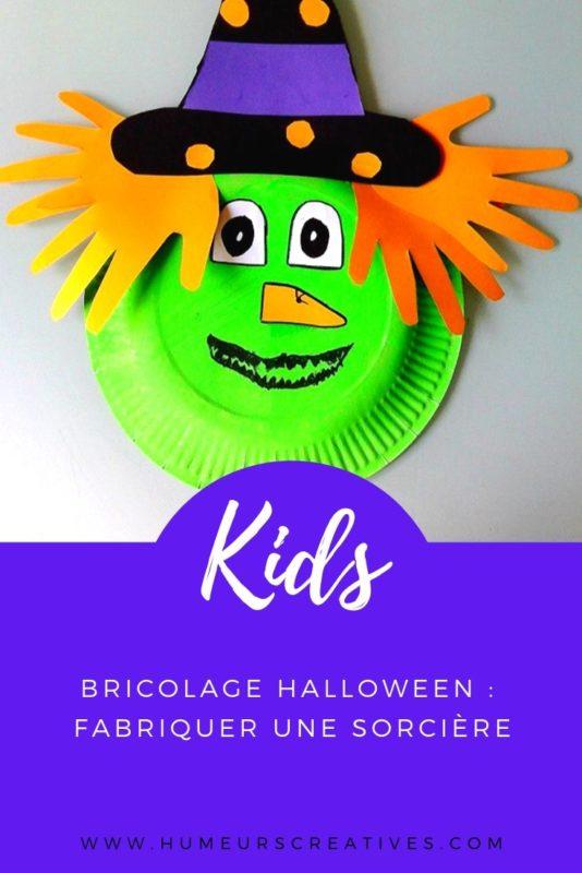 Bricolage d'Halloween pour enfants : fabriquer une sorcière avec une assiette en carton